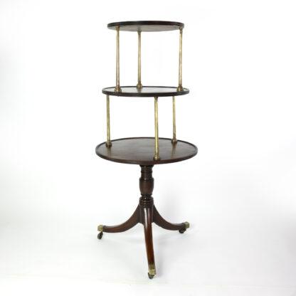 A Regency Brass-Mounted Mahogany Three Tier Dumb Waiter, Early 19th Century.