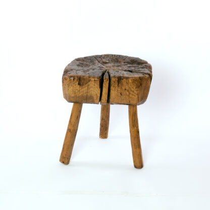 Small Rustic Ash Chopping Block, English Circa 1860.