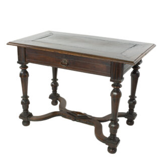French Oak Writing Table With A Single Drawer, Circa 1780.