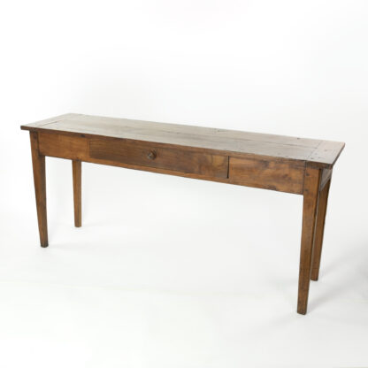 19th Century Long and Narrow French Fruitwood Server With A Single Drawer, Circa 1850.