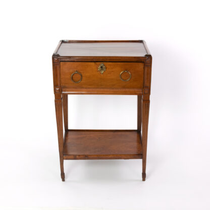 Small scale Antique Walnut Side Table With A Single Large Drawer And Shelf, Italian Circa 1780
