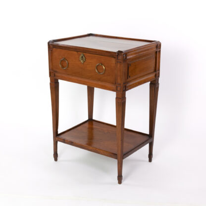 18th Century antique Side Table With A Single Large Drawer And Shelf, Italian Circa 1780