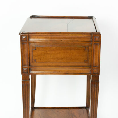 Side view of antique Italian Side Table With A Single Large Drawer And Shelf, Italian Circa 1780