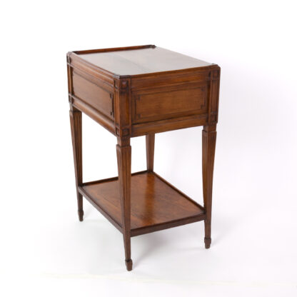 Small scale Walnut Side Table With A Single Large Drawer And Shelf, Italian Circa 1780
