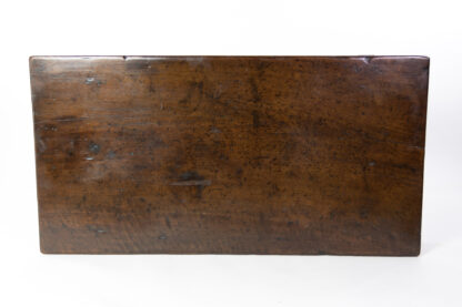 Slab top of a French Baroque Walnut Single Drawer Writing Table With H-Stretcher, French Circa 1780.