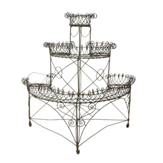 Victorian Era French Wirework Demilune Planter, 19th Century.