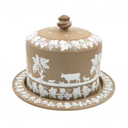 Wedgwood Brown Jasper Cheese Dome, Late 19th Century