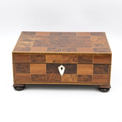 Antique Specimen Wood Box Of Various English Hardwoods, English Circa 1820.
