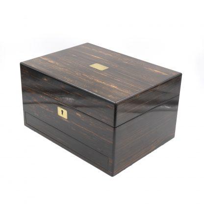 A Solid Coromandel Dressing Box Of Timeless Elegance, English 1830-1850.