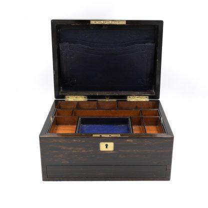 Interior of A Solid Coromandel Dressing Box Of Timeless Elegance, English 1830-1850.