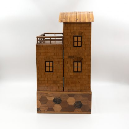 Japanese House box, Specimen Wood Men's Dressing Box, Japan circa 1900.