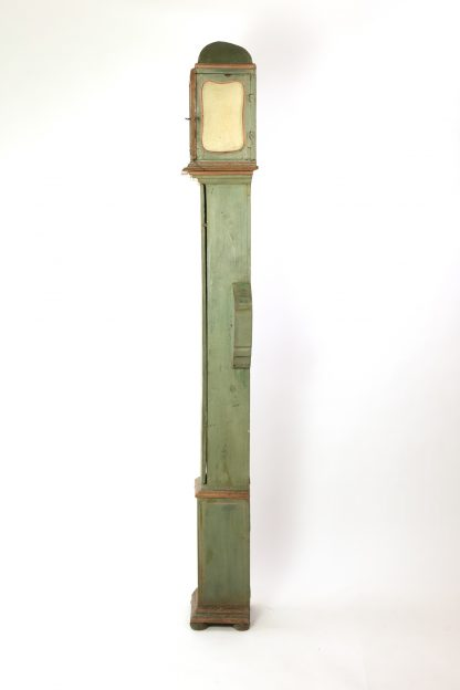 Late 18th Century Painted Tall Case Clock, French Circa 1770.