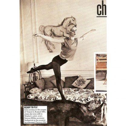 Edie Sedgwick, Vogue, Andy Warhol, 1965 on an Omersa Rhinoceros